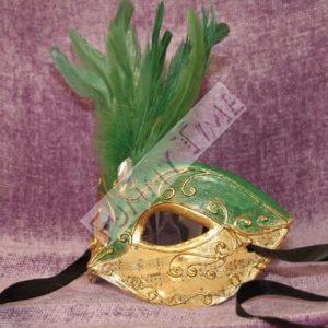 antifaz veneciano verde