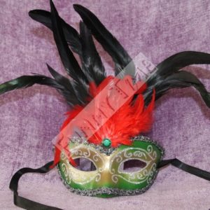 mascara carnaval verde
