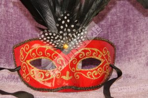 antifaz rojo de carnaval