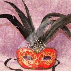 mascara veneciana roja