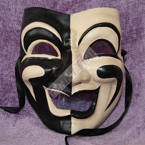 Volto commedia mascara de papel mache funny time - Mascaras venecianas decoracion ...