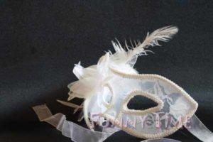 mascara para bodas blanco