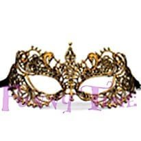 mascara de encaje dorado