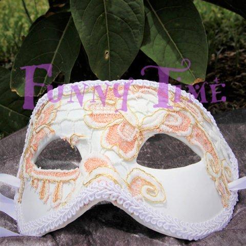 mascara para bodas con encaje
