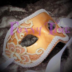 mascara dorada para bodas