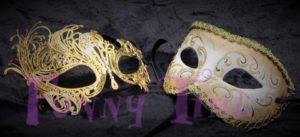mascaras doradas de bodas