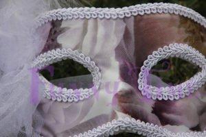 mascara de novia forrada