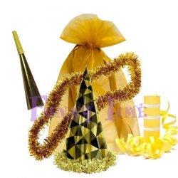 bolsas de cotillón doradas
